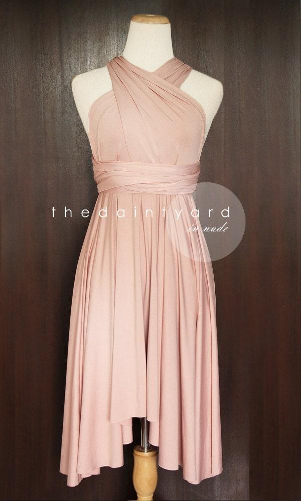 MAXI Nude Pink Bridesmaid Convertible Dress Infinity Multiway