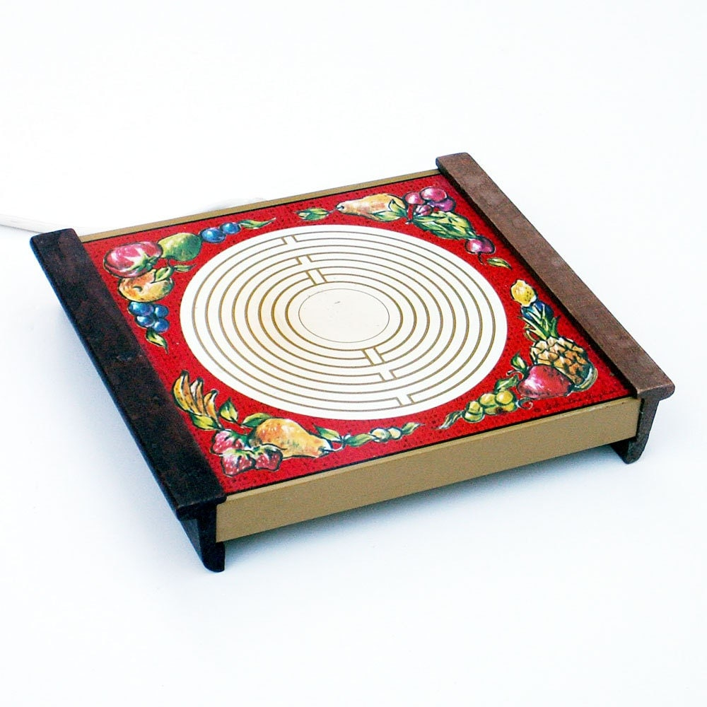 vintage electric hot plate warmer tray by ailorsattic on etsy. Black Bedroom Furniture Sets. Home Design Ideas