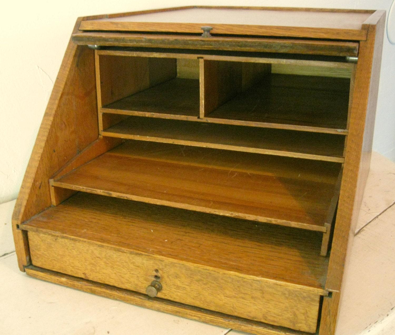 Oak banker s desk organizer mailing cubby by somethingcharming