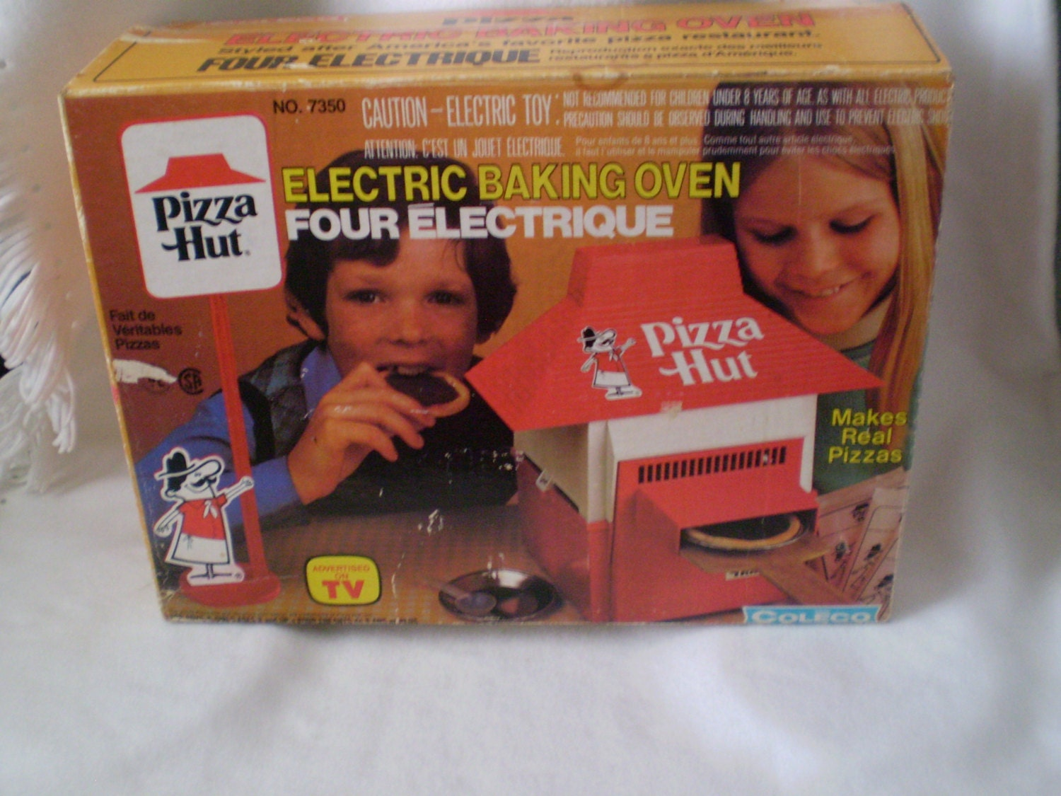 Pizza Hut Toys : Vintage coleco pizza hut electric baking oven with box by