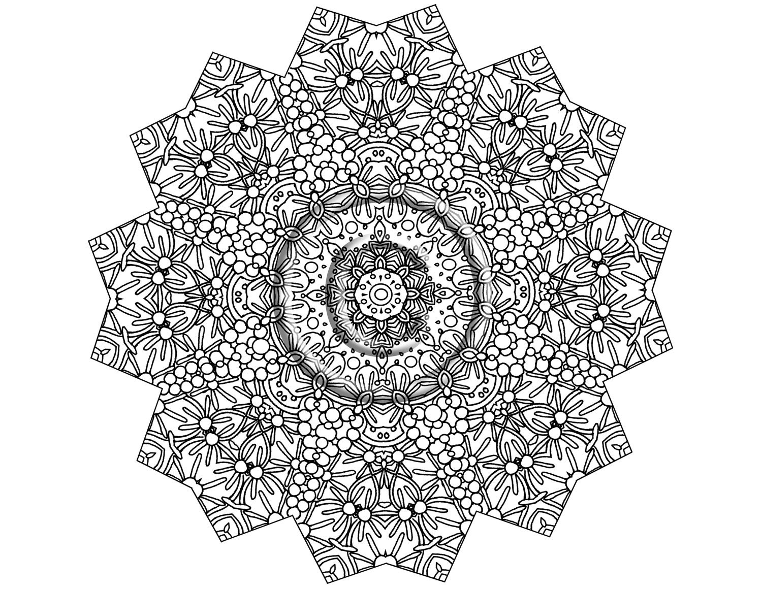 intricate mandala coloring pages - photo#9