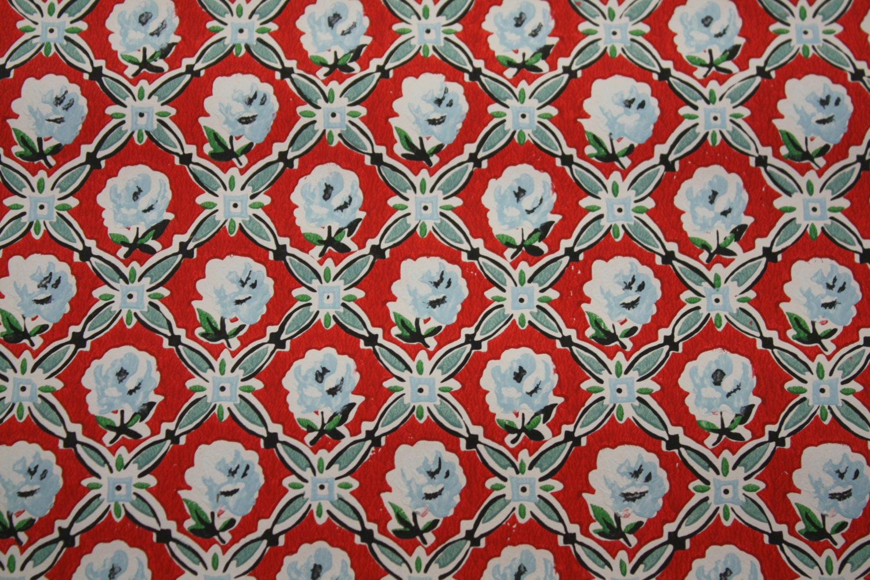 Blue Rose Vintage Wallpaper Warm Vintage Blue And Red Rose