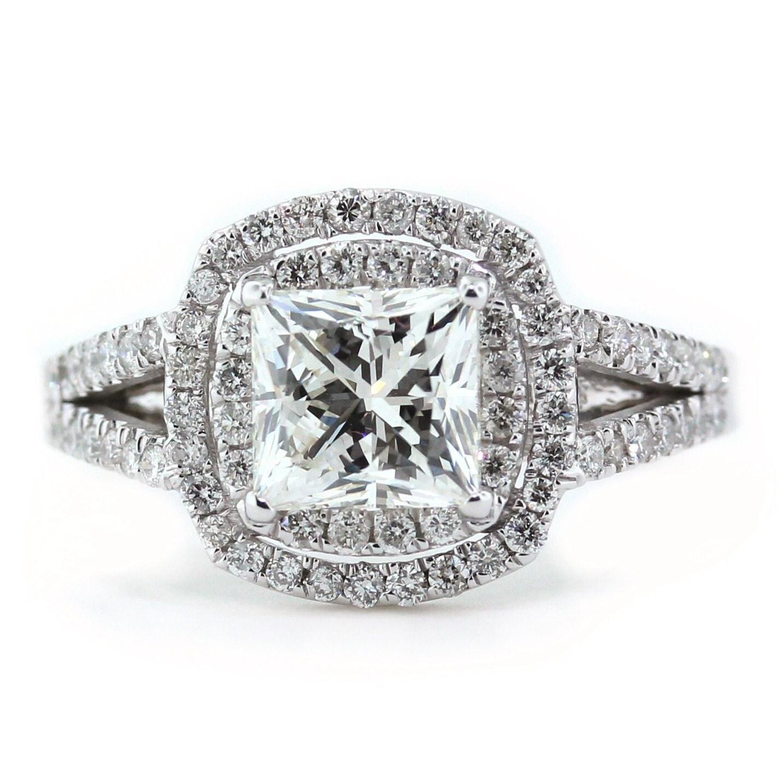 Double Halo Diamond Setting Princess Cut by SerenadeDiamonds