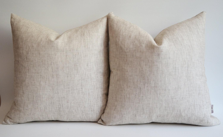 Sukan / 1 Piece Linen Pillow Cover, Natural Slip Cover Decorative Eco Friendly - 26x26 inch