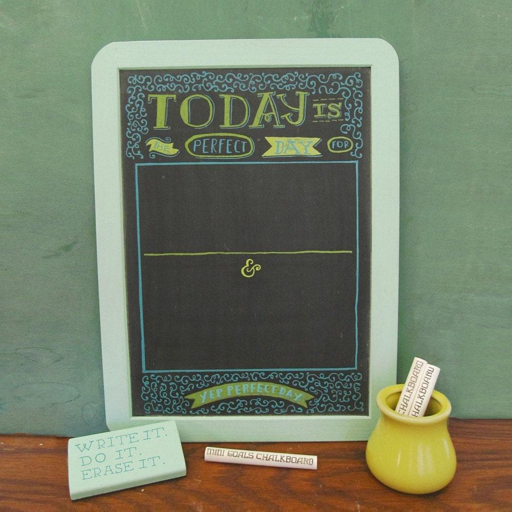 Mini Goals Chalkboards - Perfect Day - Foamy/Mossy