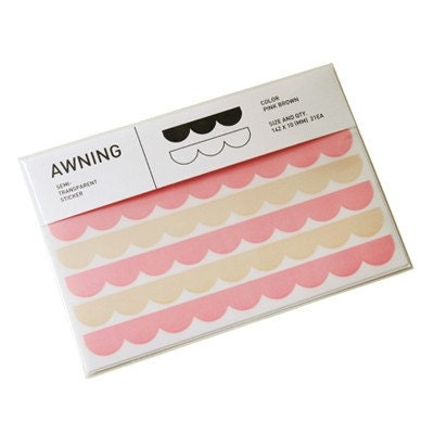 AWNING STICKER TRANS (3sheets)