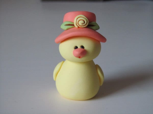 Whimsical Clay Chick