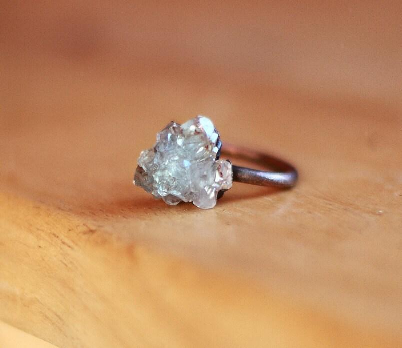 Raw Geode Ring