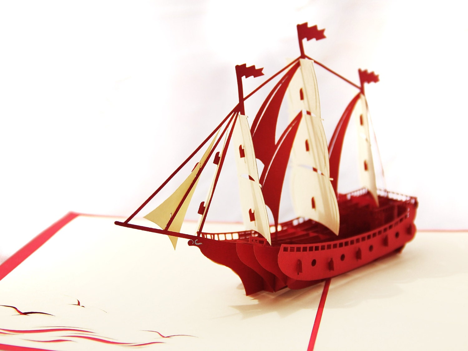 how to make a pirate ship pop up card
