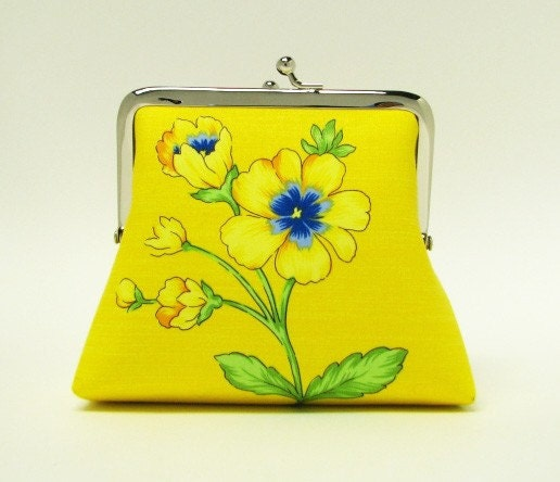 Bridesmaids gifts - 2 card pockets, 5 in - Yellow flowers