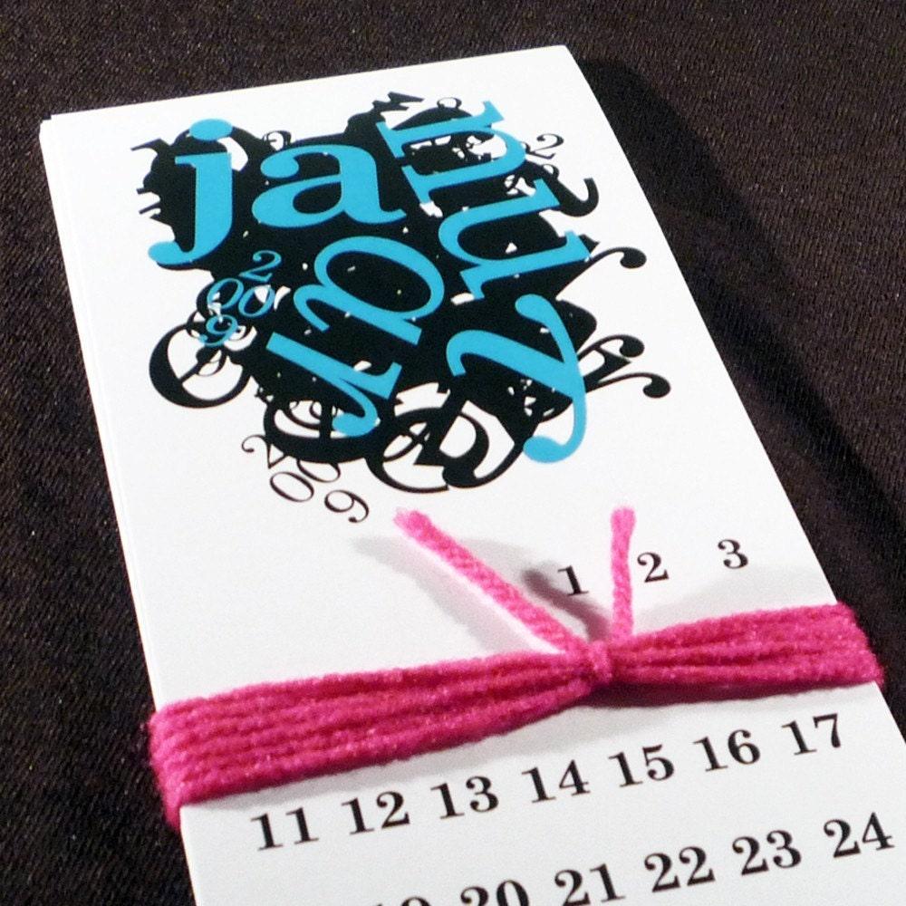 Etsy :: theRasilisk :: Type Crazy Calendar 2009 from etsy.com