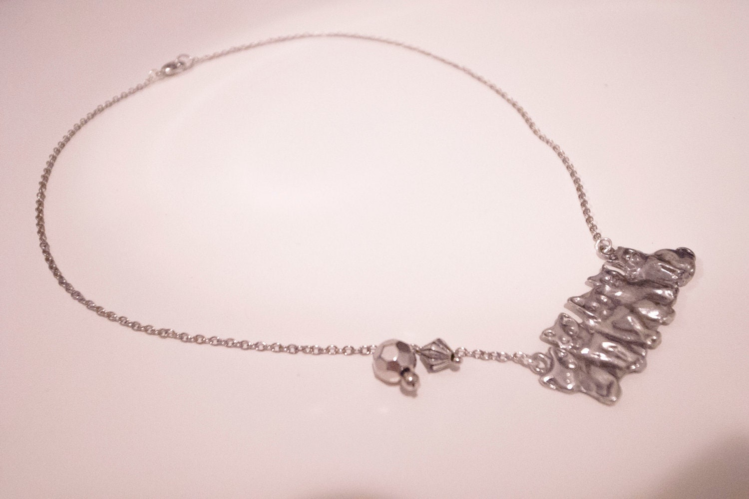 Silver Cat Loving Necklace - Custom Order Available