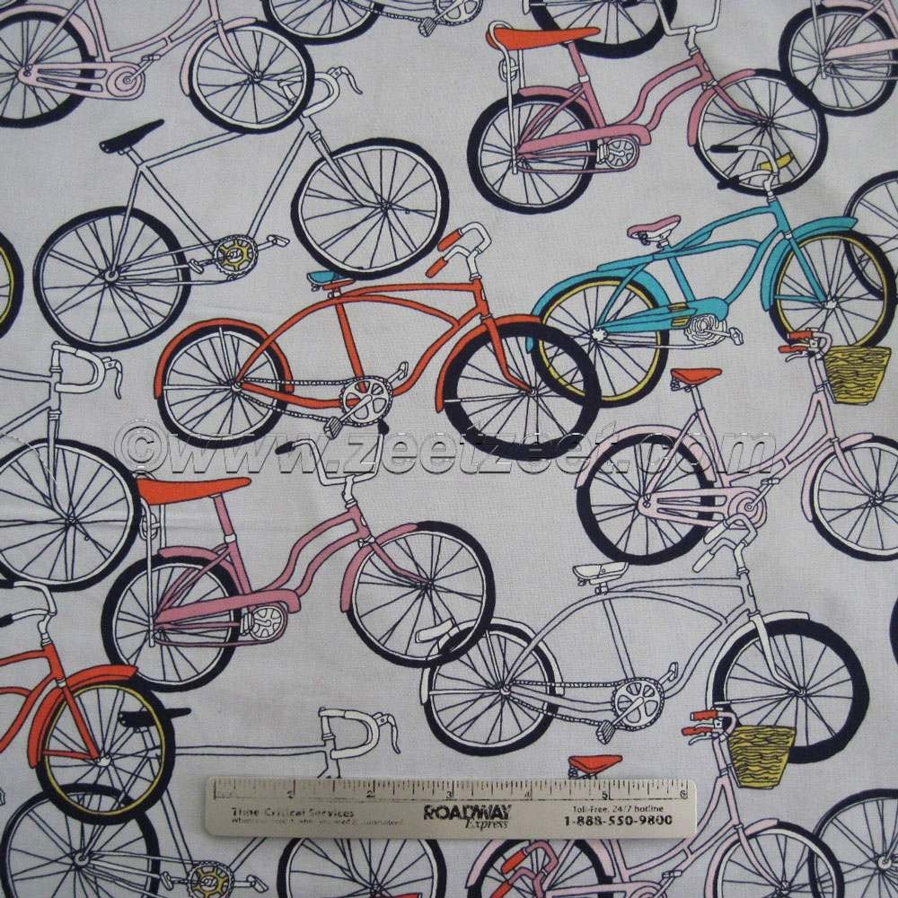 Bicycle: Bicycle Quilt Fabric