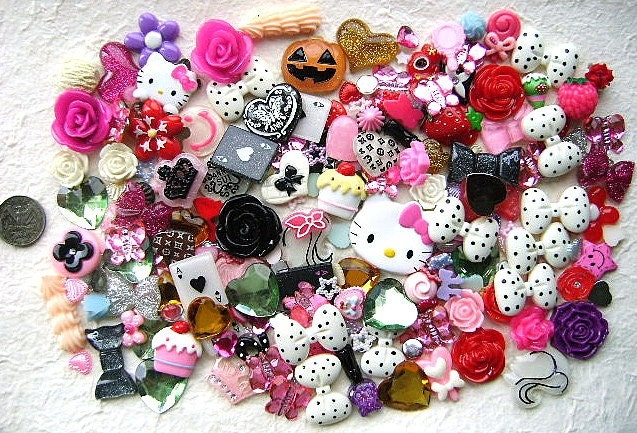 hello kitty and cabochons