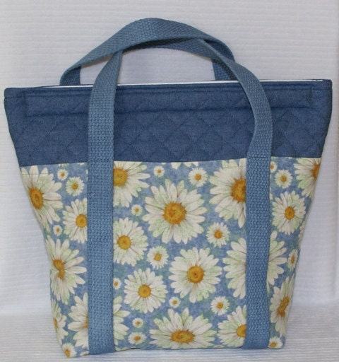 Lunch Bag Tote Cooler Insulated and Reusable - Daisies and Denim