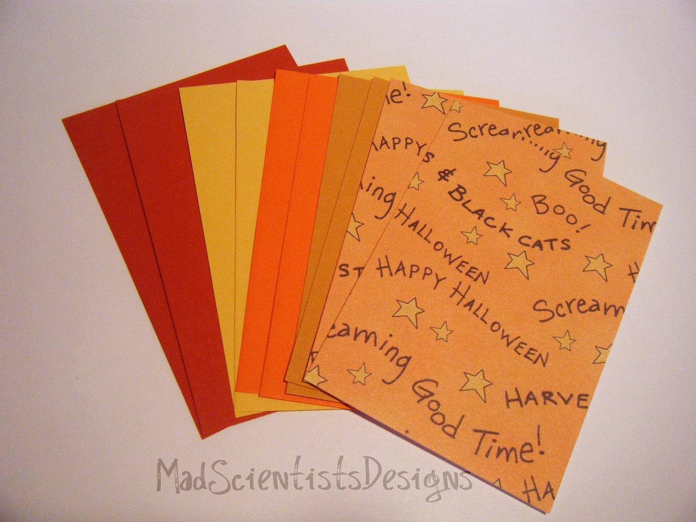 10 ACEO Blanks 001 Colorful Seasonal Autumn Halloween