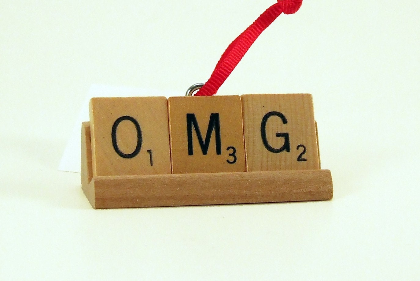 OMG Scrabble Tile Holiday Ornament