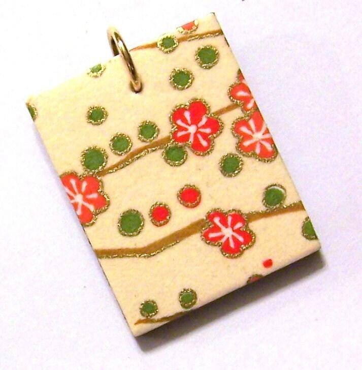 Japanese Origami Paper Pendant