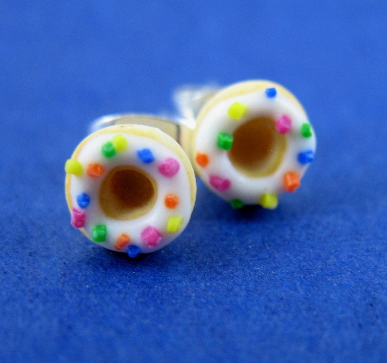 Rainbow Donut Stud Earrings (small)