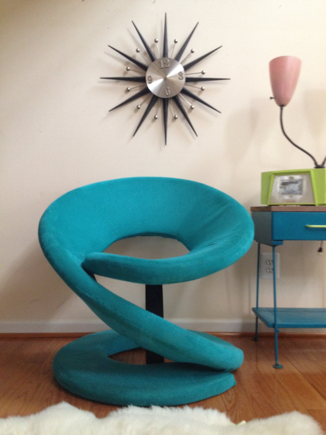 Funky retro chair modern accent by paracosmvintage on etsy for Cheap funky furniture