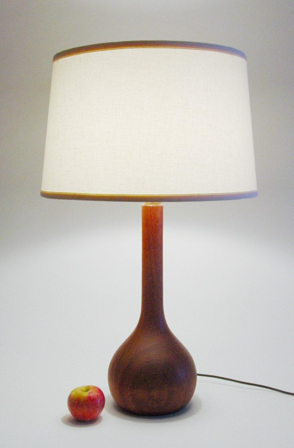 danish modern teak table lamp mid century modern by. Black Bedroom Furniture Sets. Home Design Ideas