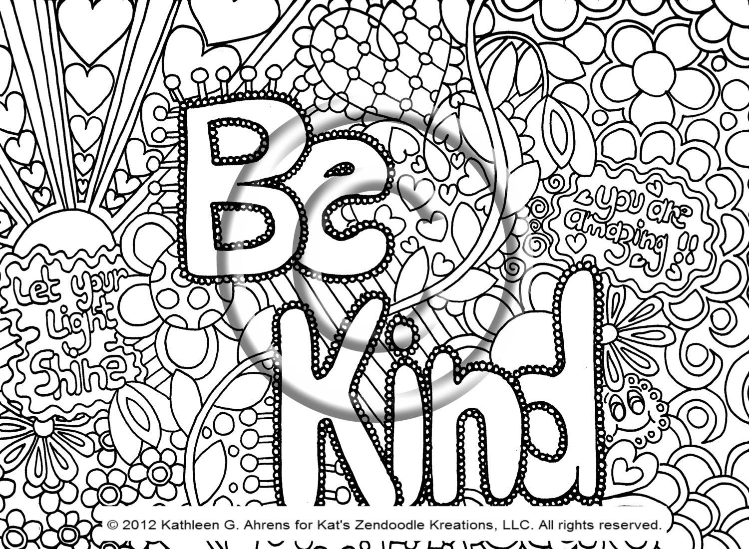 instant pdf download coloring page hand drawn by