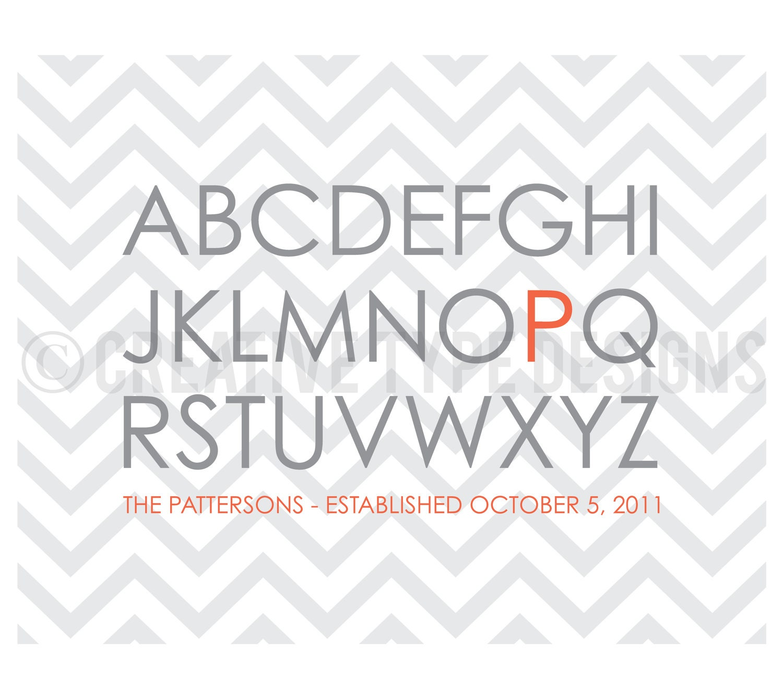 Family Alphabet Print