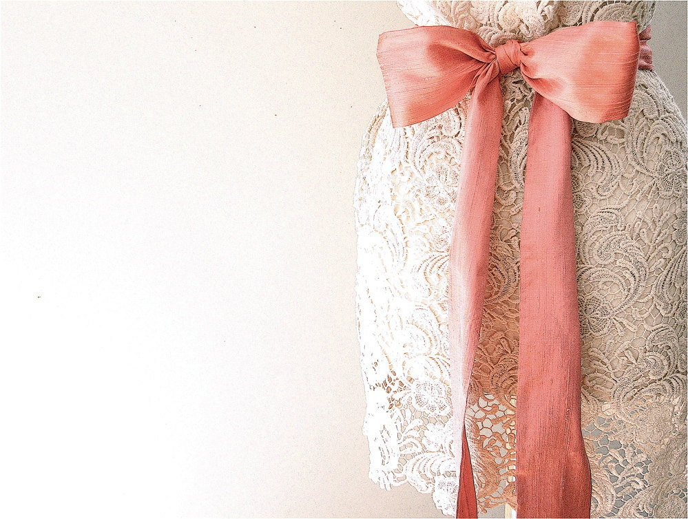 silk dupioni sash