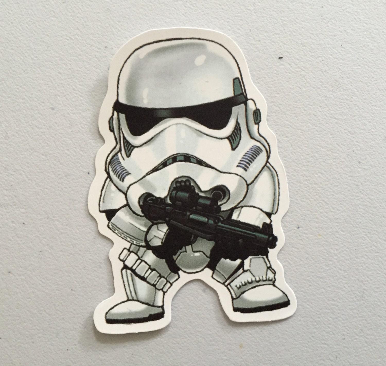 Stormtrooper Star Wars Inspired Sticker Galactic Empire Sticker SW Laptop Sticker MacBook Sticker Star Wars Gift