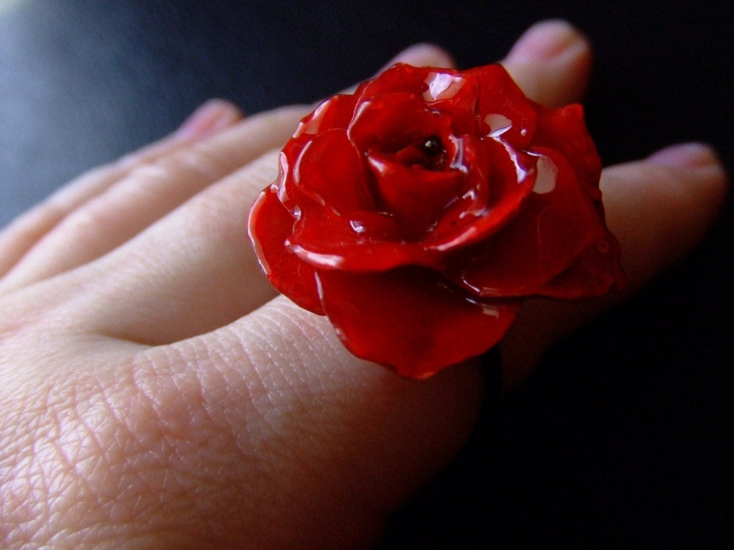 Handmade Jewelry on Etsy - BUY 2 GET 1 FREE SALE-- ORIGINAL real preserved RED ROSE ring by BelaBrazilianDesigns from etsy.com