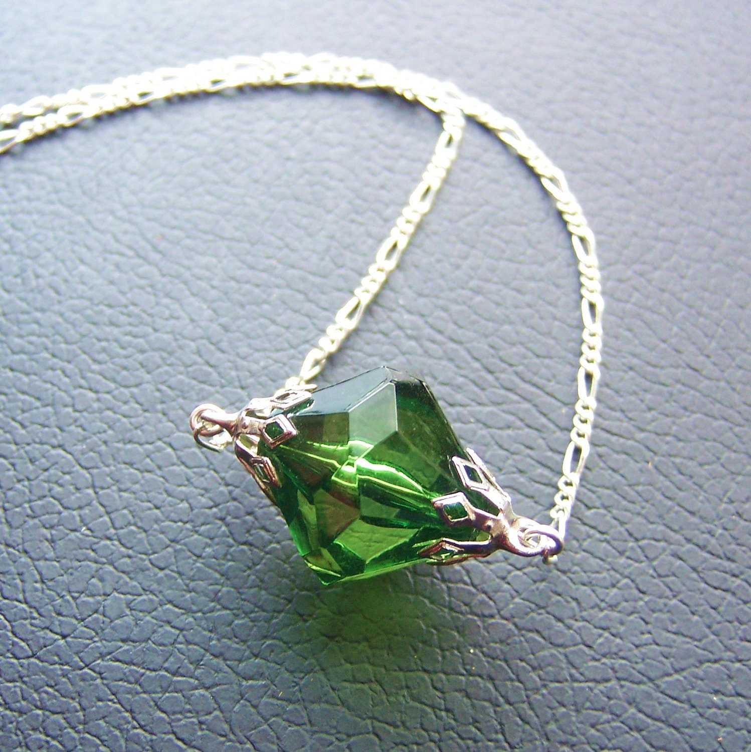 green kryptonite necklace by independentjewelry on etsy
