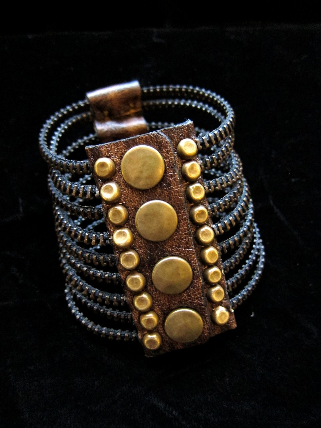 Brass Ribcage Bracelet (zipper teeth)