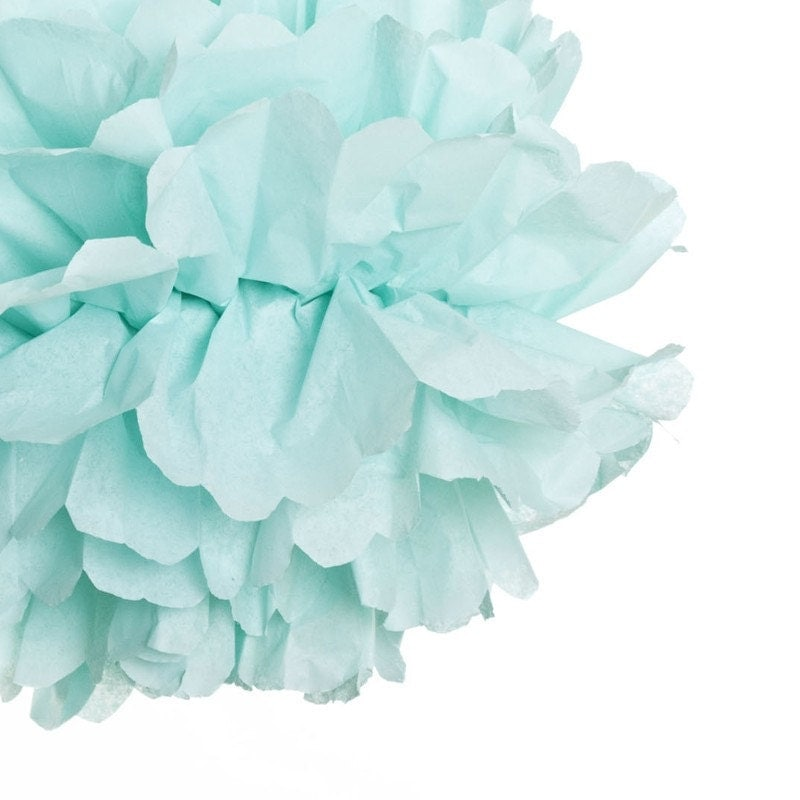 Aqua - Single Paper Pom
