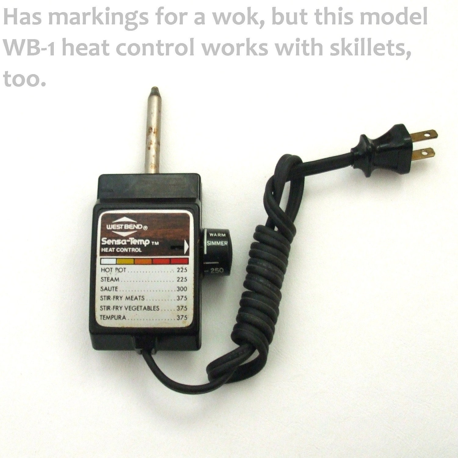 WB 1 Heat Control Cord Replacement Part fits by ...