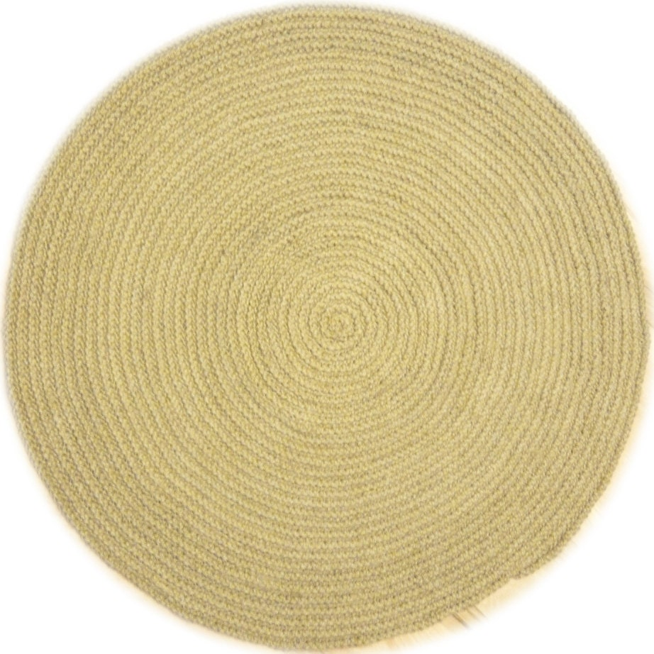 8ft Crochet Natural Jute Rug Braided Round Rug By Greathome
