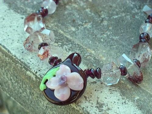Sanguine Petal Necklace