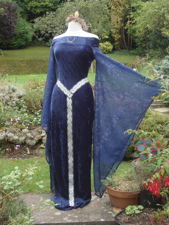 bespoke celtic goddess blue witch medieval by wytchhaze on