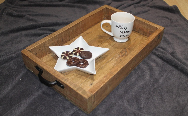 Rustic Breakfast Serving Tray Breakfast Tray Pallet Wood Serving Tray Wooden Tray Reclaimed wood