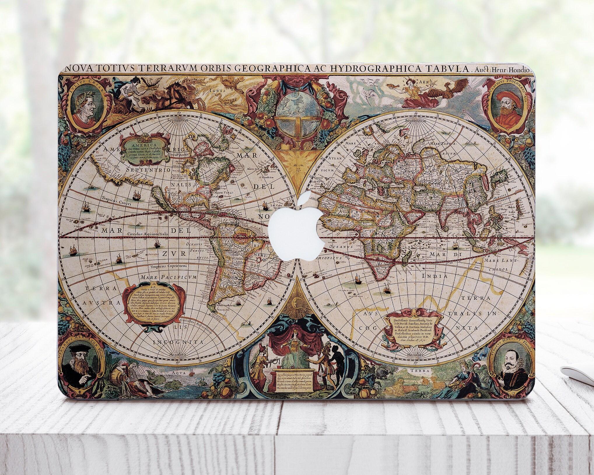 World Map MacBook Air Decal 13 Mac Air 13 Decal MacBook Pro Retina Decal 12 MacBook Sticker MacBook Pro Mac Pro 13 Sticker Mac ES0068