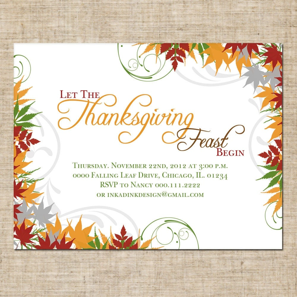 Amazing image pertaining to printable thanksgiving invitations