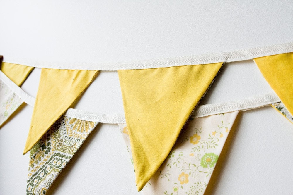 Vintage Gold Bunting