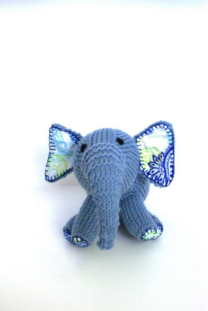 عزیزم آبی دستباف فیل گره اسباب بازی