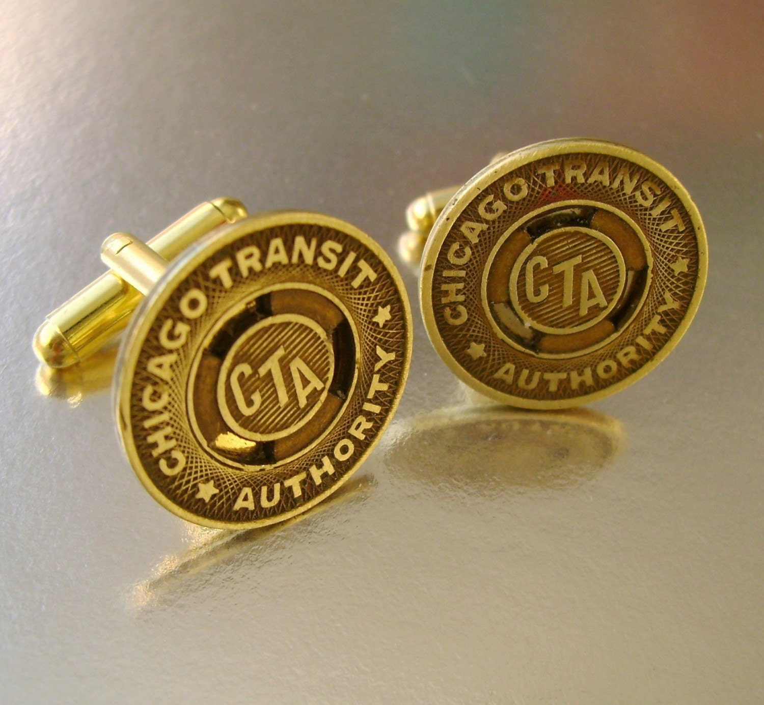 Chicago Transit Authority - Transit Subway Token Cufflinks, Man Gift, Groomsman Gift