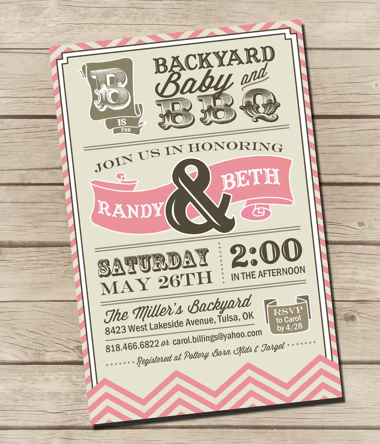 Couples Bbq Baby Shower: Items Similar To PRINTABLE