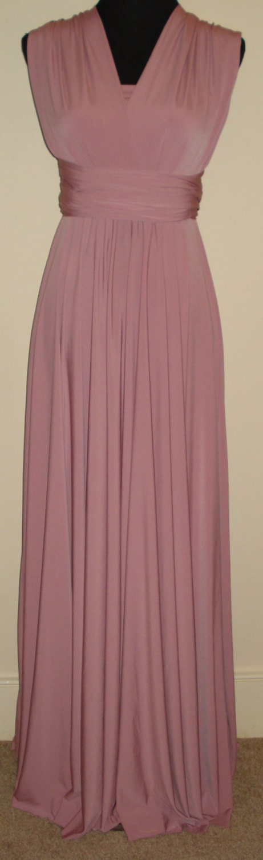 Dusky Pink Infinity Bandeau Dress Bridesmaid Dress Multiway Dress Full Length Dress Wrap Dress  Formal Cocktail Wedding Dress Floor Length