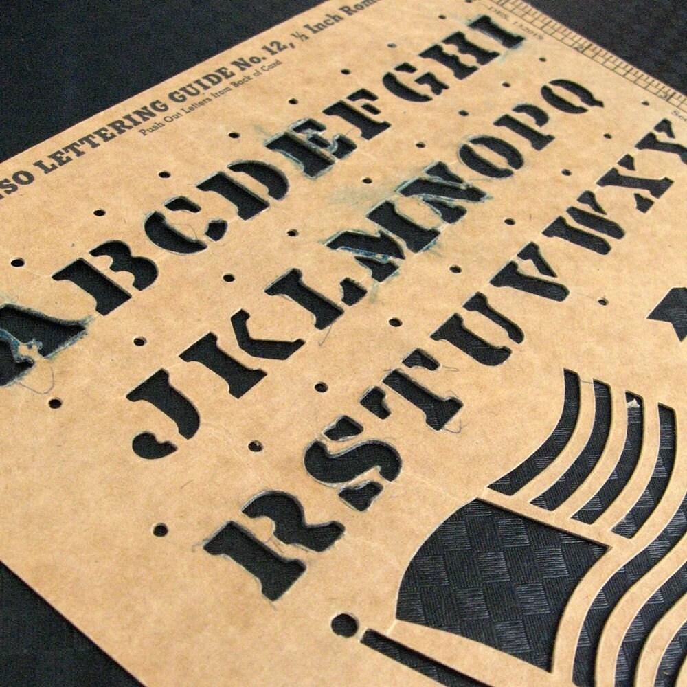 ROMAN STENSO........... 1956 Stencil Lettering Guide 1/2 inch LETTERS