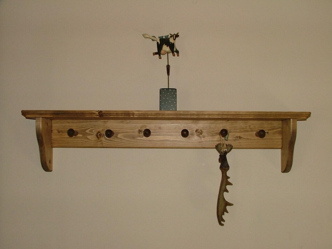 Coat Rack Wall Shelf Shaker Peg Coat Rack by ...