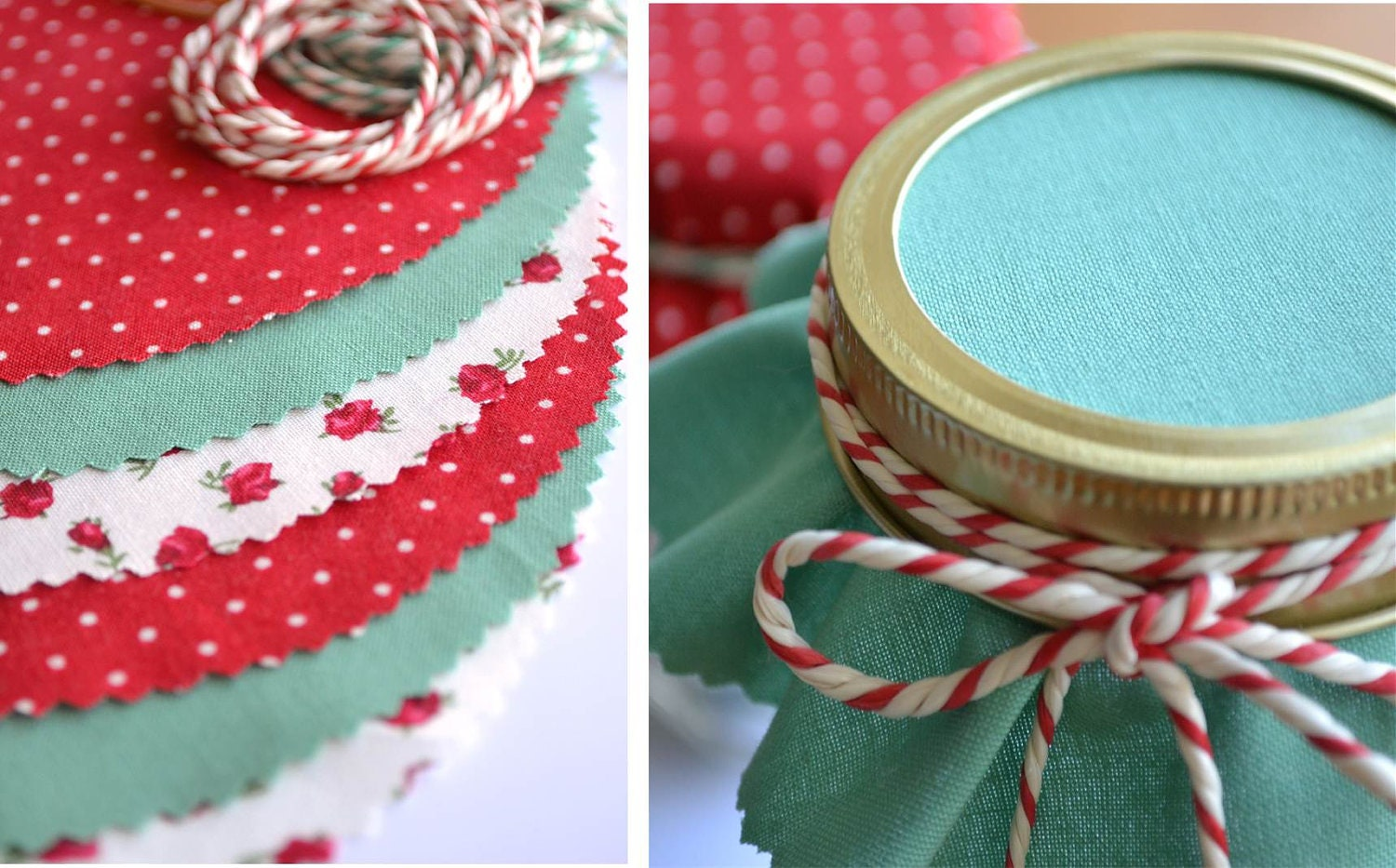 Christmas Jar Covers by Huffy Hen