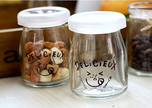 Delicieux pudding bottle with plastic cap -90ml Set of 2