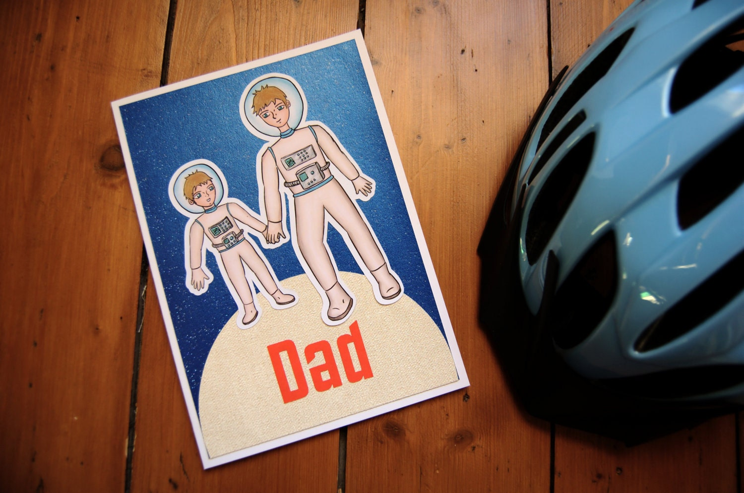 Astro Dad and Astro Lad - Father's Day Card